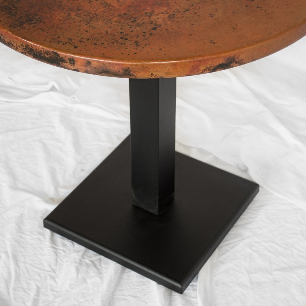 Artesanos Round Copper Restaurant Table