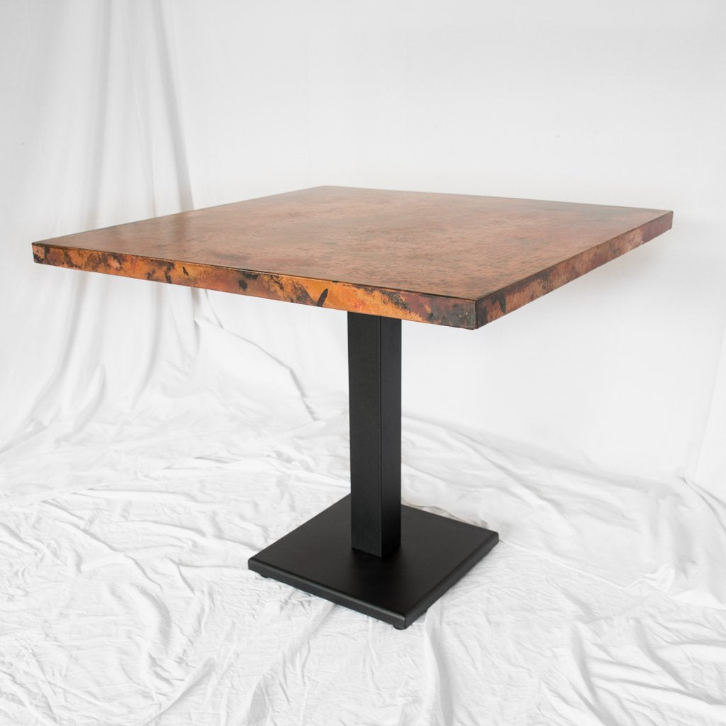 Square Copper Bistro Table