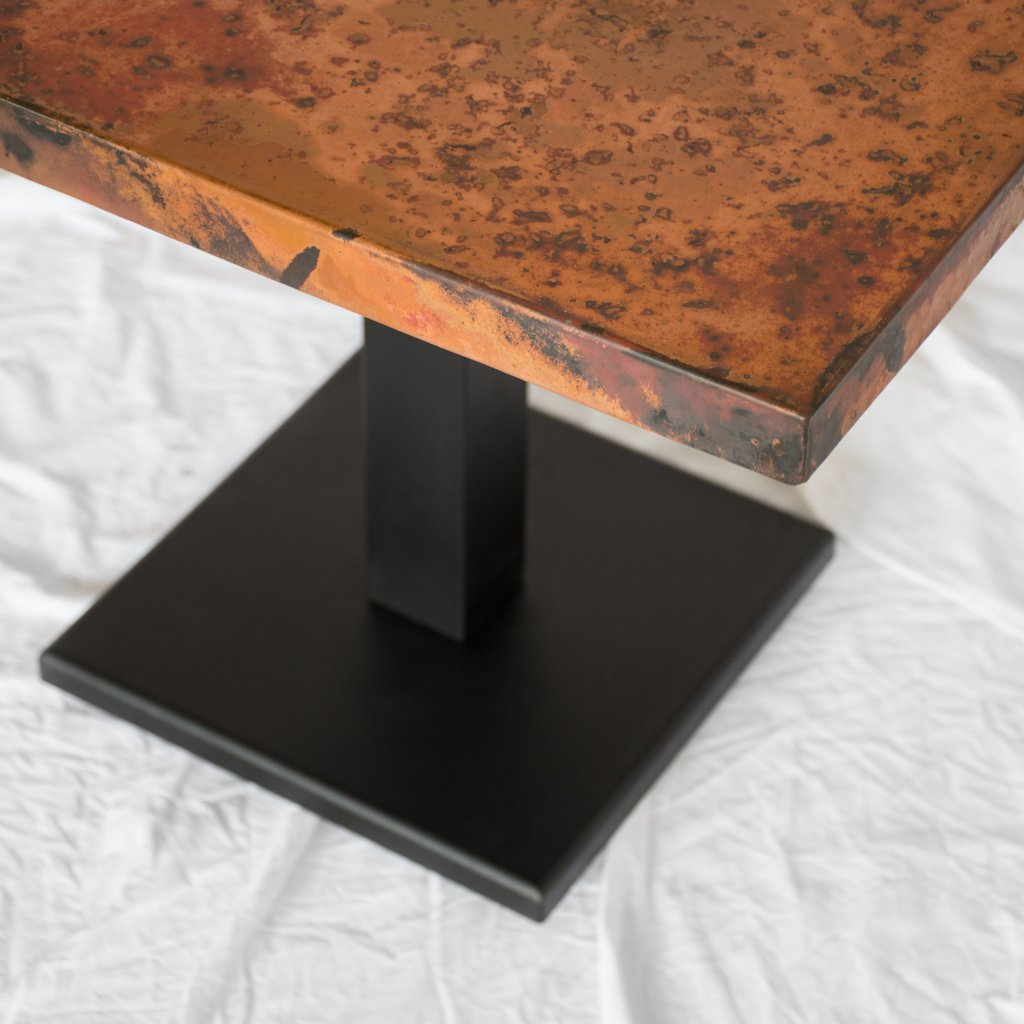 Square Copper Restauarant Table