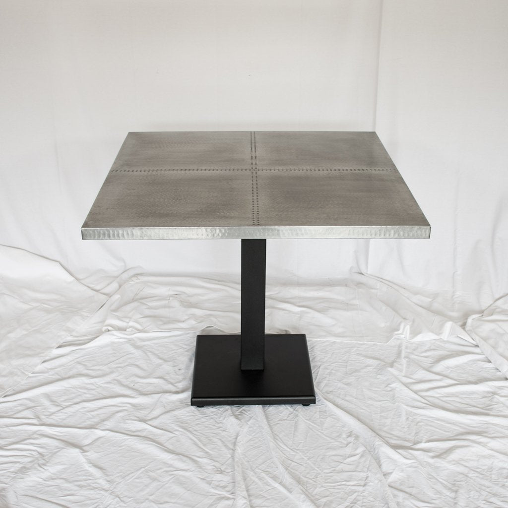 Square zinc bistro table