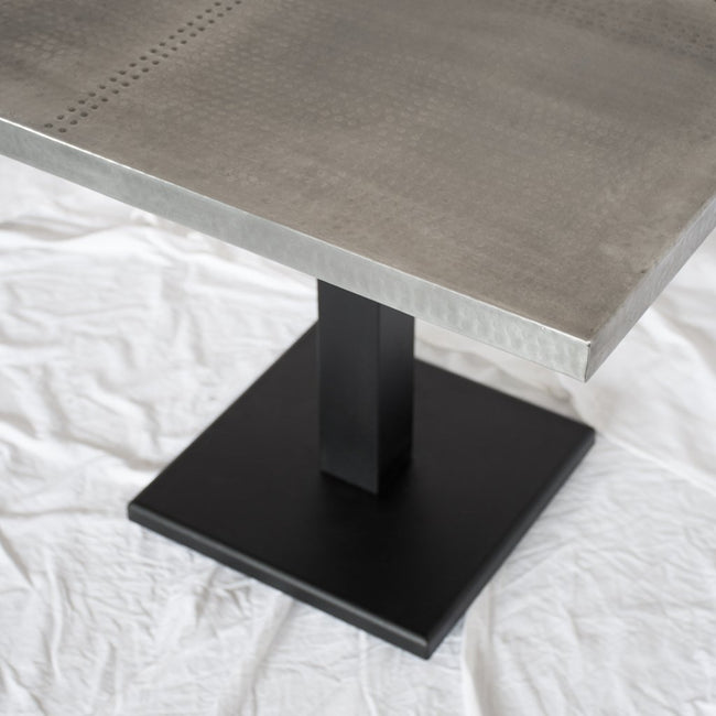 Square Zinc Restaurant Table