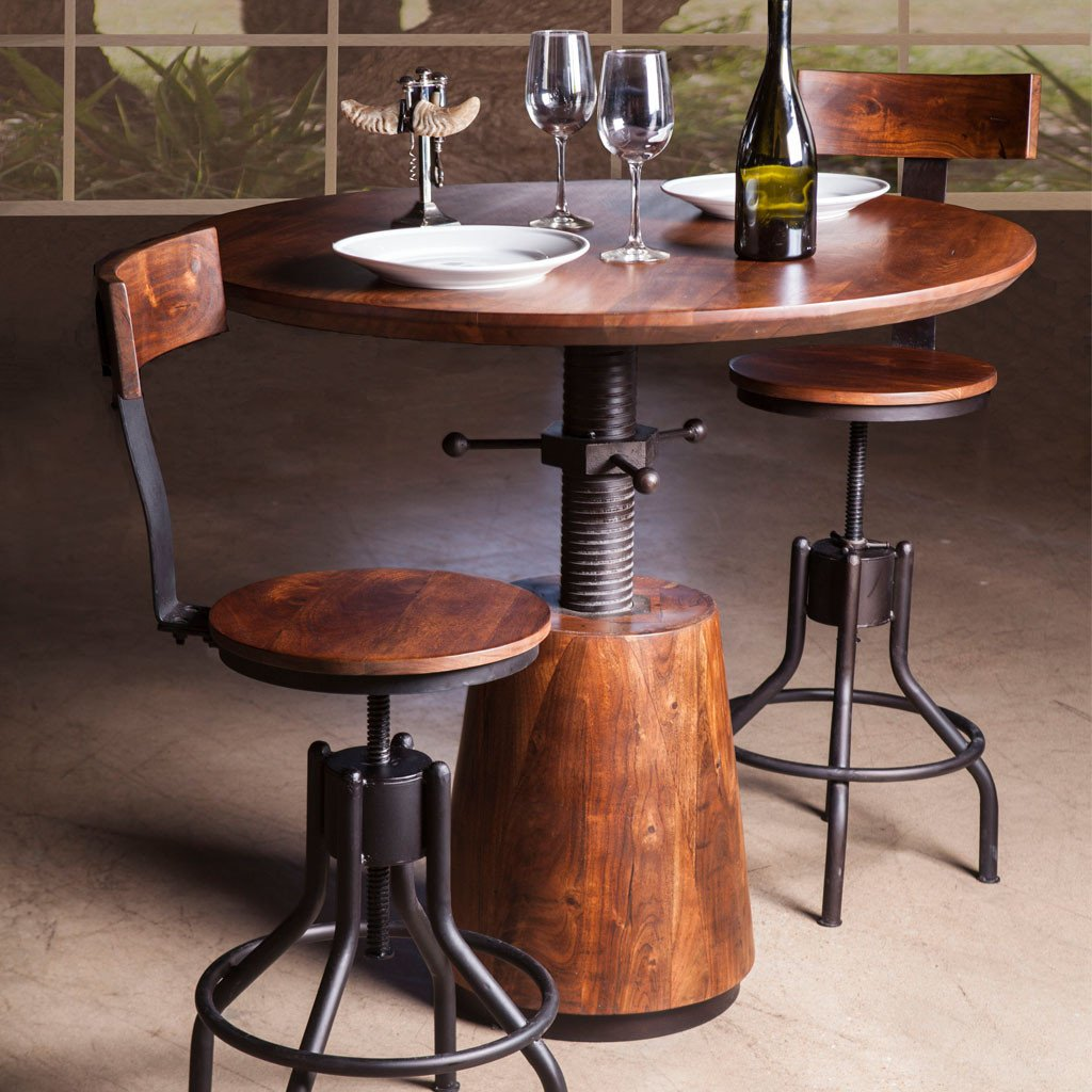 Industrial Modern Adjustable Dining Table