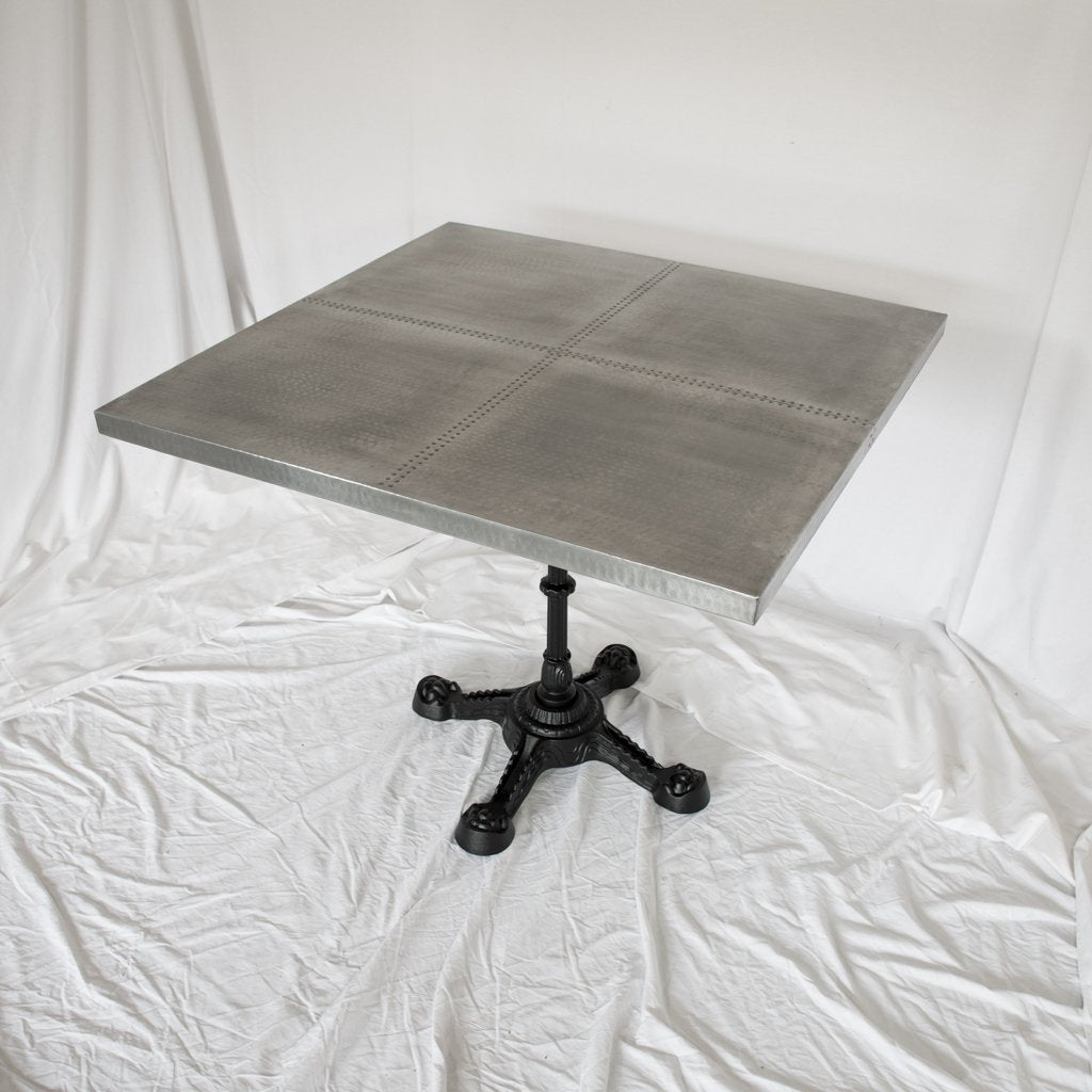 Ingram Sqaure Zinc Bistro Table