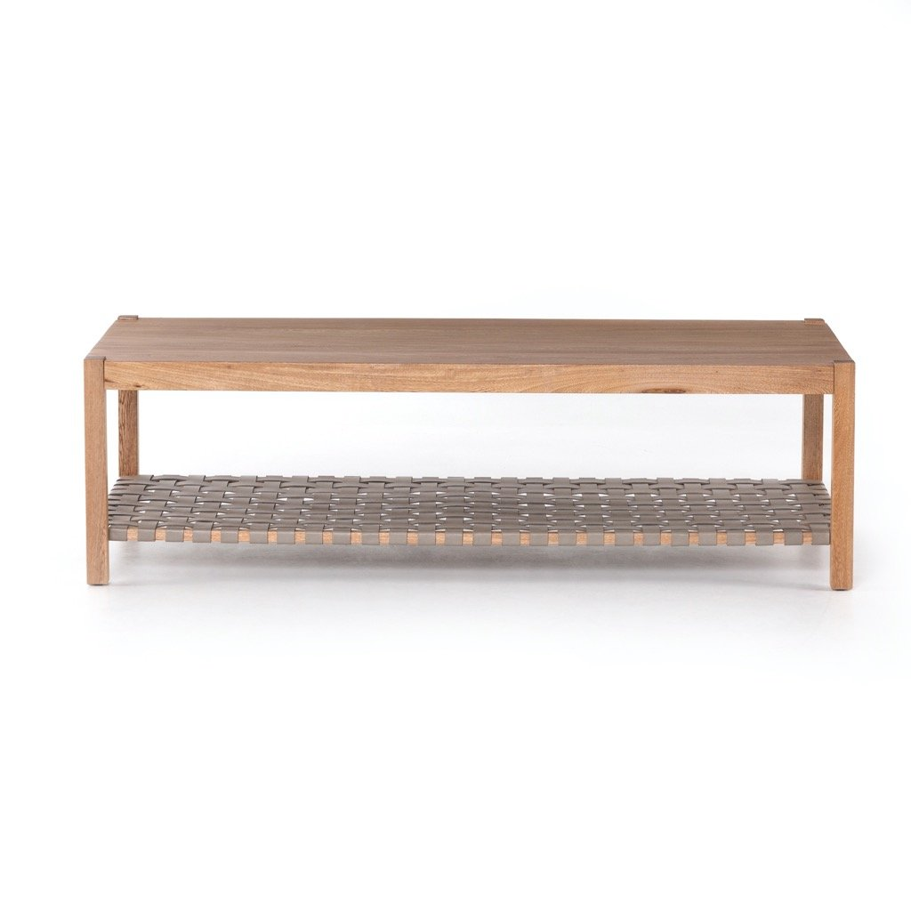 Jacobo Coffee Table - Natural Rosa Morada Front view