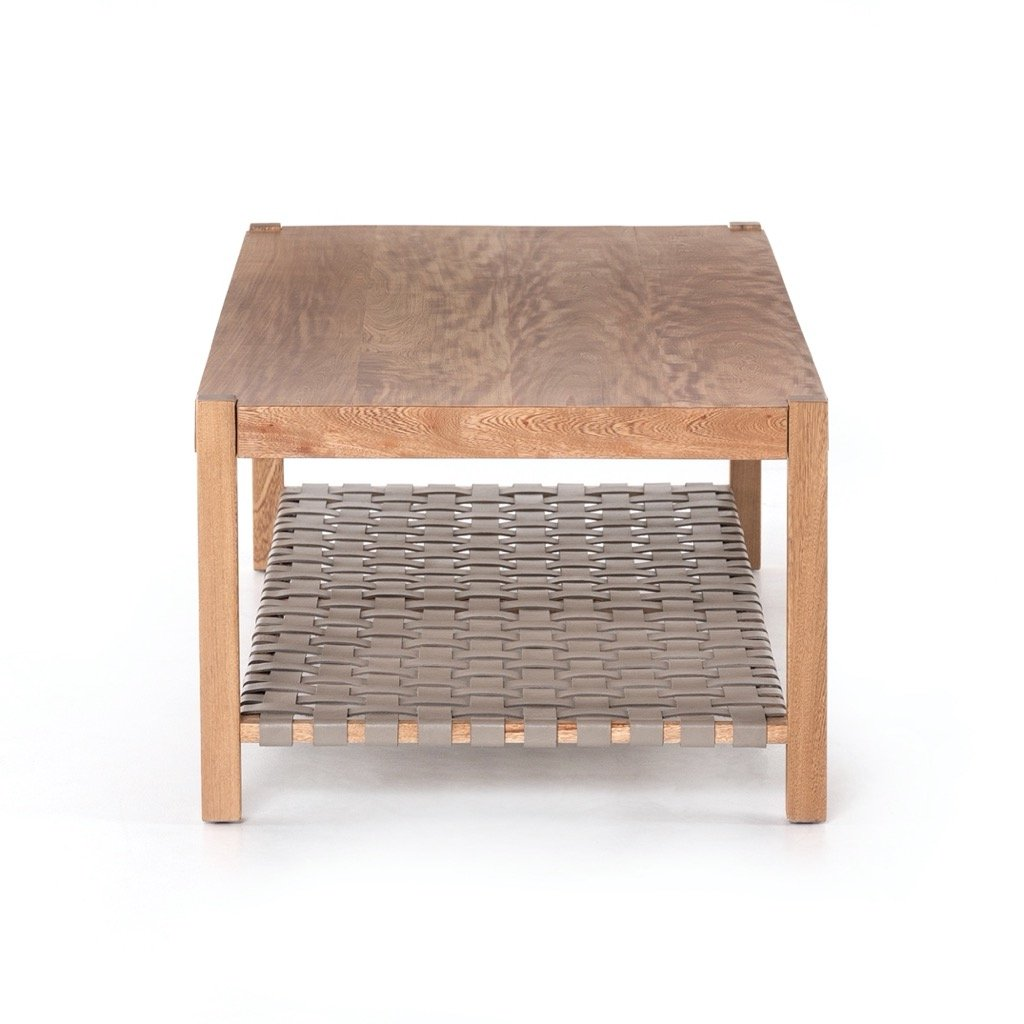 Jacobo Coffee Table - Natural Rosa Morada Side view