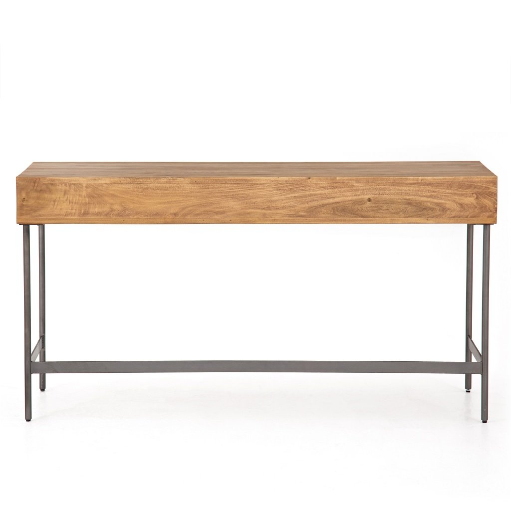 Joaquin Modular Writing Desk - Honey Back View