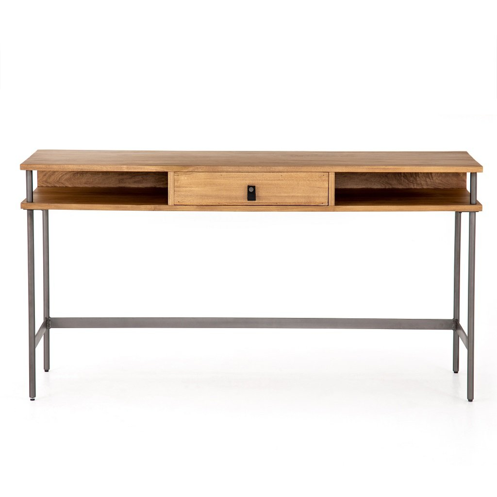 Joaquin Modular Writing Desk - Honey Front View