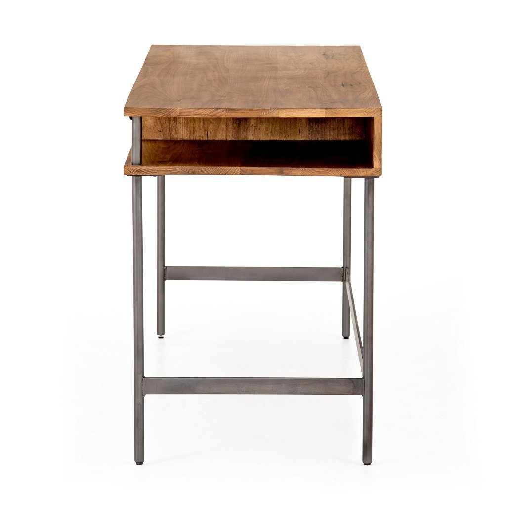 Joaquin Modular Writing Desk - Honey Side View