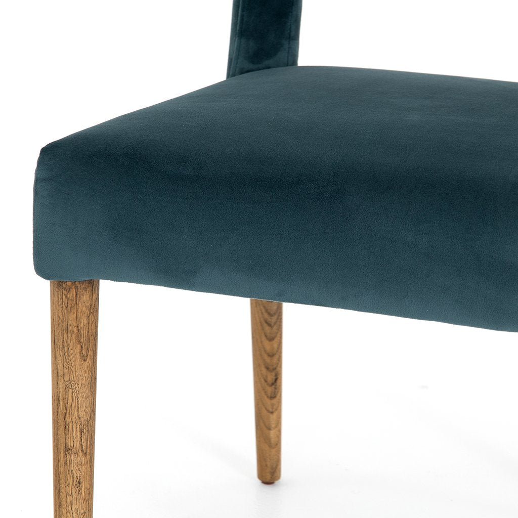 Leg Detail Joseph Teal Dining Chair CASH-16617-091 Four Hands