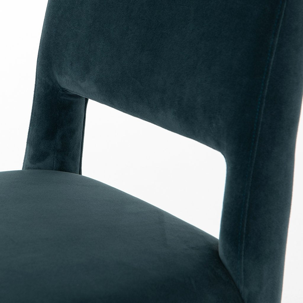Back Cutout Detail Joseph Teal Dining Chair CASH-16617-091 Four Hands