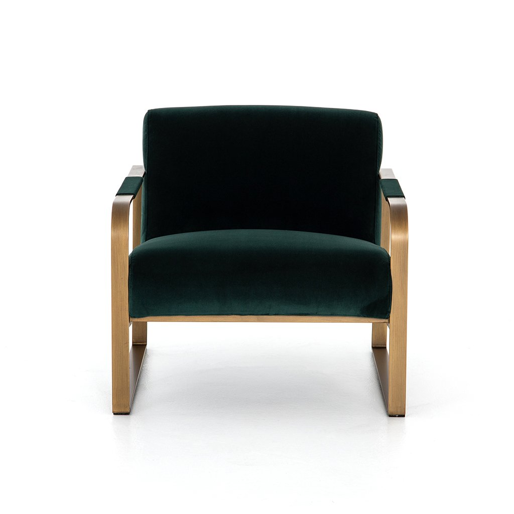 emerald green living room chair