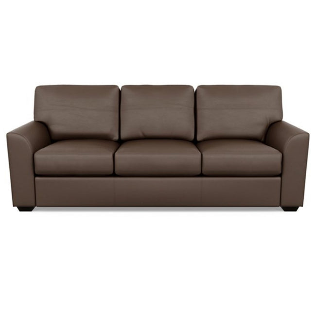 Kaden Leather Three Seat Sofa by American Leather Bali Brandy