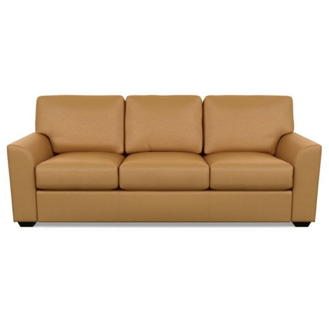 Kaden Leather Three Seat Sofa by American Leather Bali Butterscotch