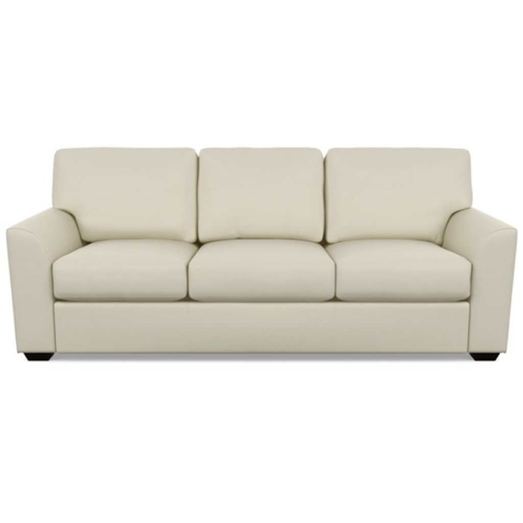 Kaden Leather Three Seat Sofa by American Leather Bali Cream