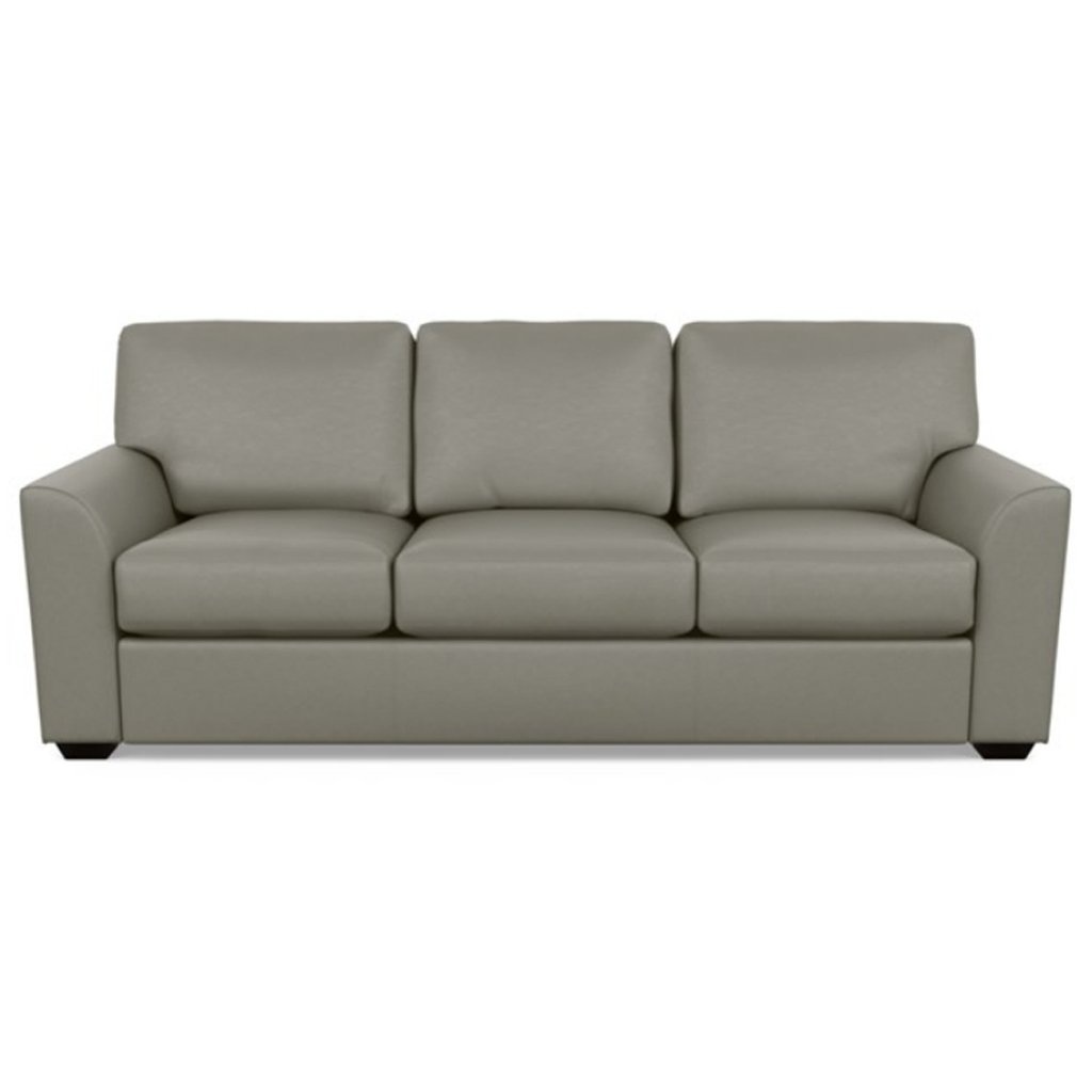 Kaden Leather Three Seat Sofa by American Leather Bali Gravel