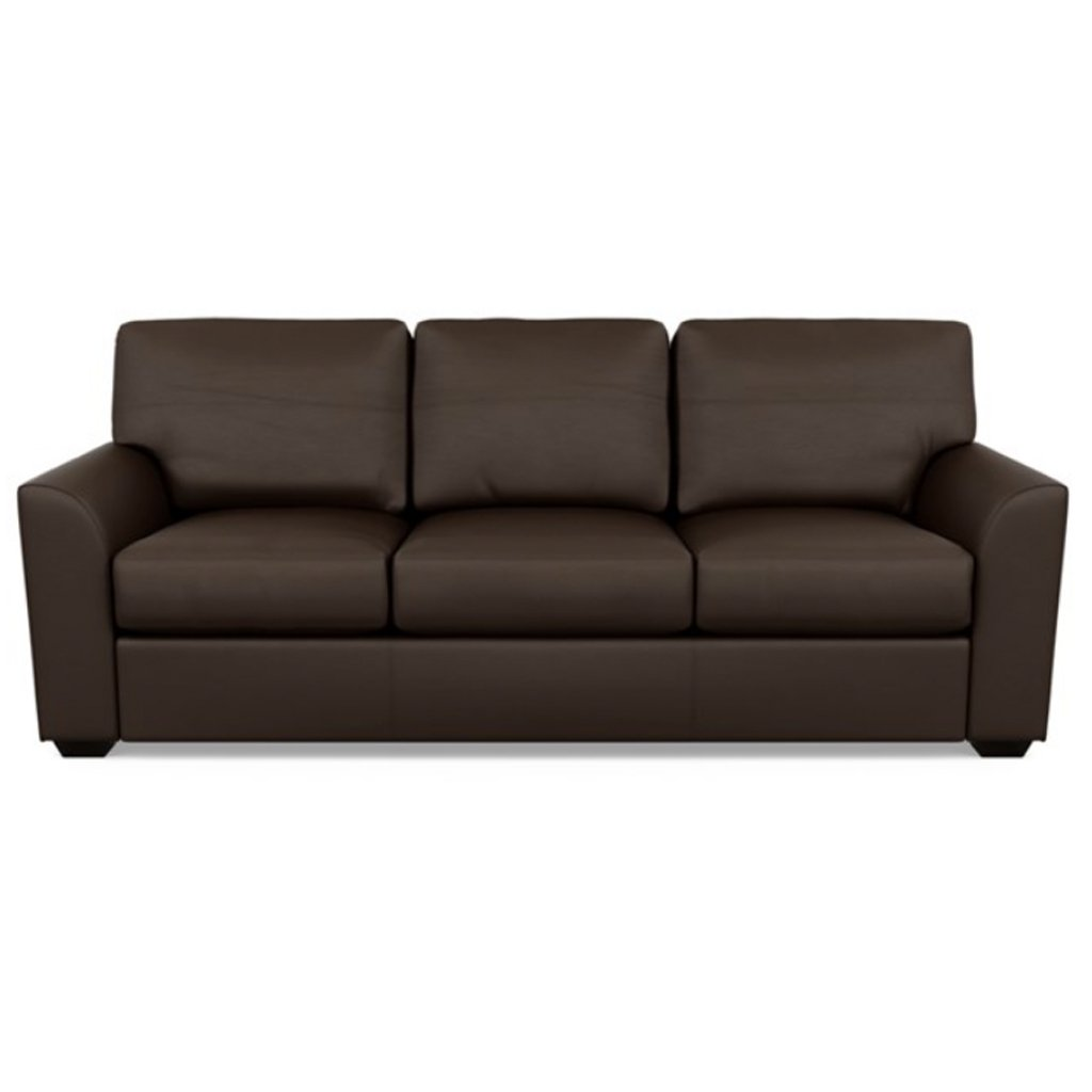 Kaden Leather Three Seat Sofa by American Leather Bali Mocha