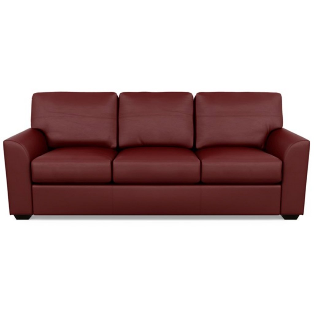 Kaden Leather Three Seat Sofa by American Leather Bali Red Hibiscus