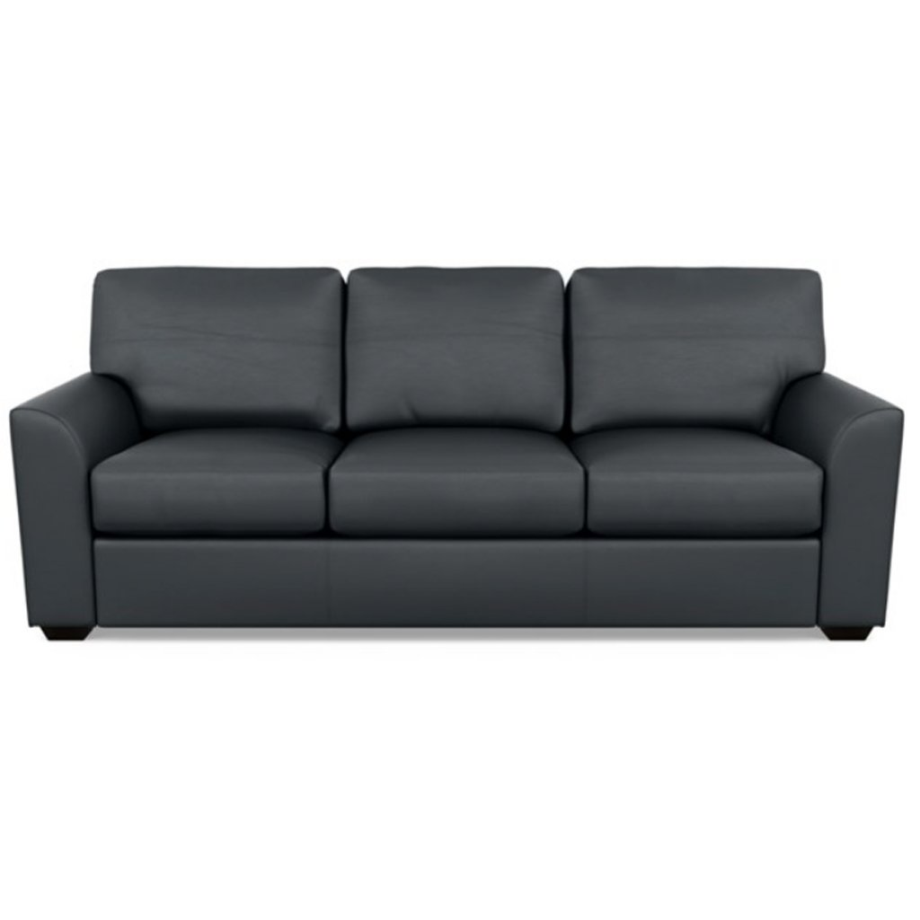 Kaden Leather Three Seat Sofa by American Leather Bali Storm