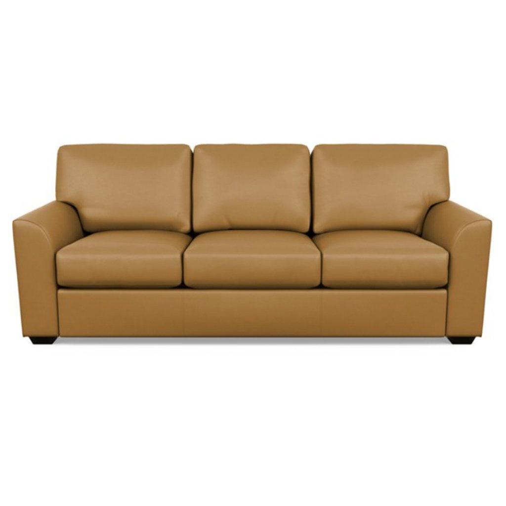Kaden Leather Three Seat Sofa by American Leather Capri Butterscotch