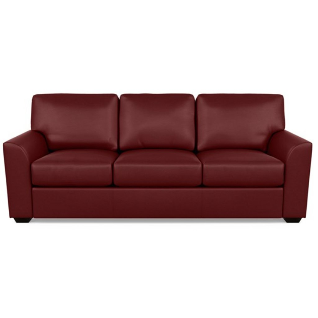 Kaden Leather Three Seat Sofa by American Leather Capri Poppy