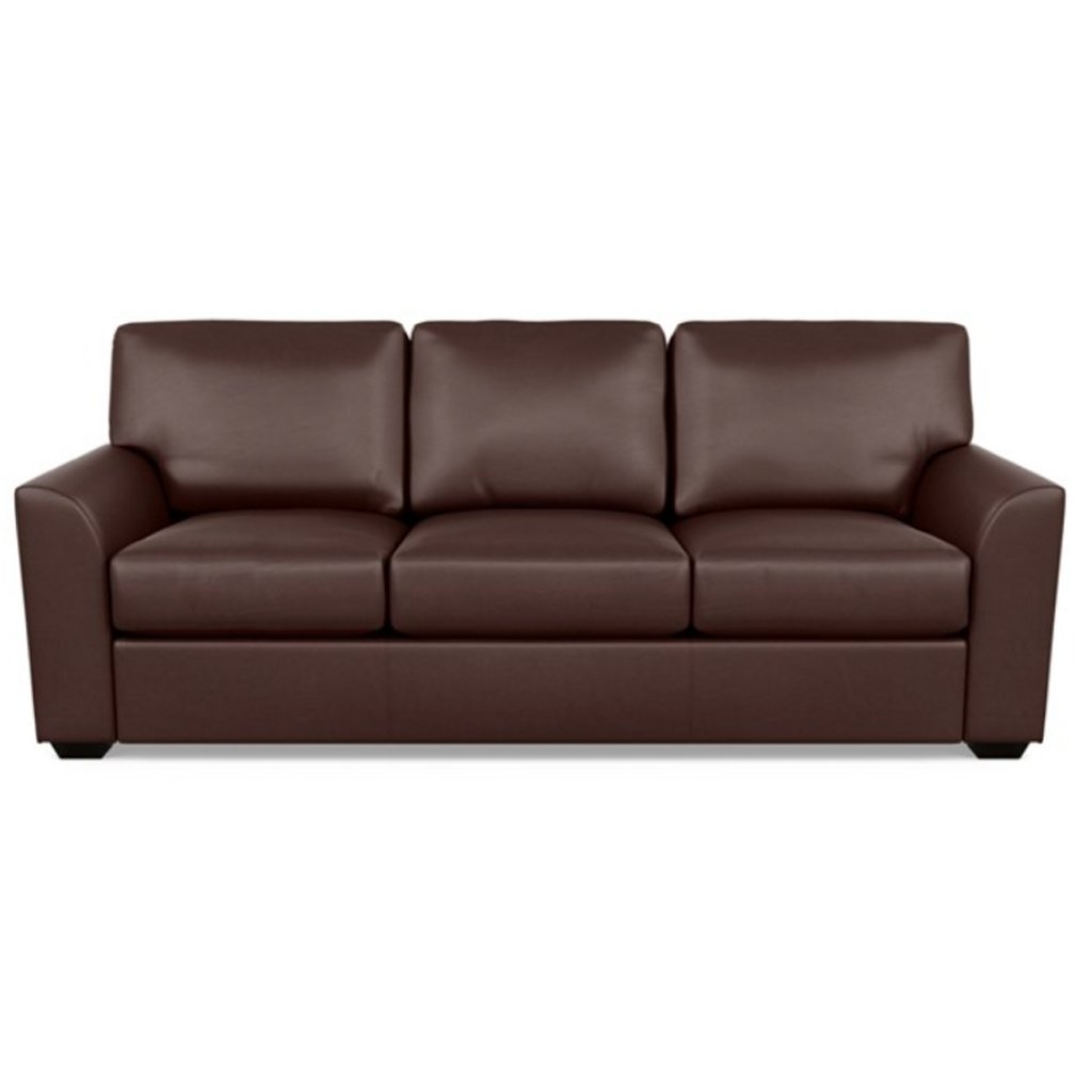 Kaden Leather Three Seat Sofa by American Leather Capri Russet