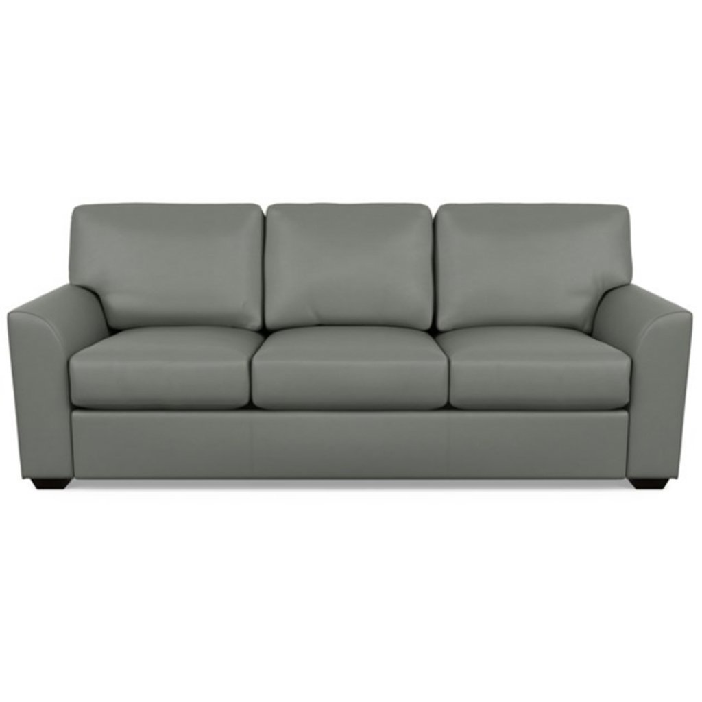 Kaden Leather Three Seat Sofa by American Leather Capri Shadow