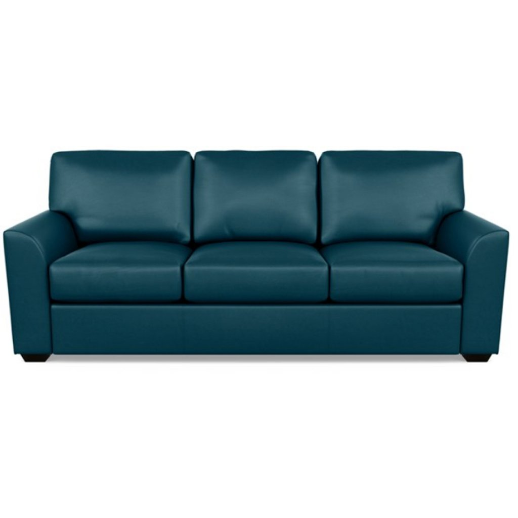 Kaden Leather Three Seat Sofa by American Leather Capri Shoreline