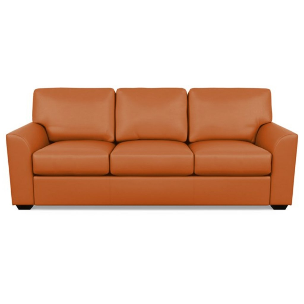 Kaden Leather Three Seat Sofa by American Leather Capri Sunrise