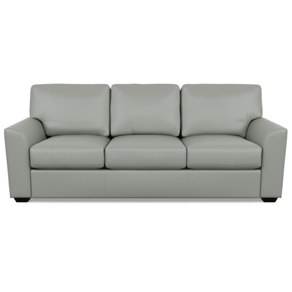 Kaden Leather Three Seat Sofa by American Leather Capri Thundercloud