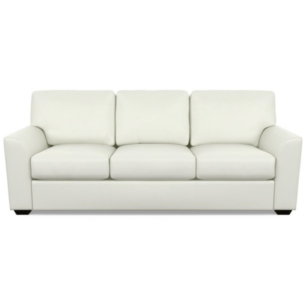 Kaden Leather Three Seat Sofa by American Leather Capri White