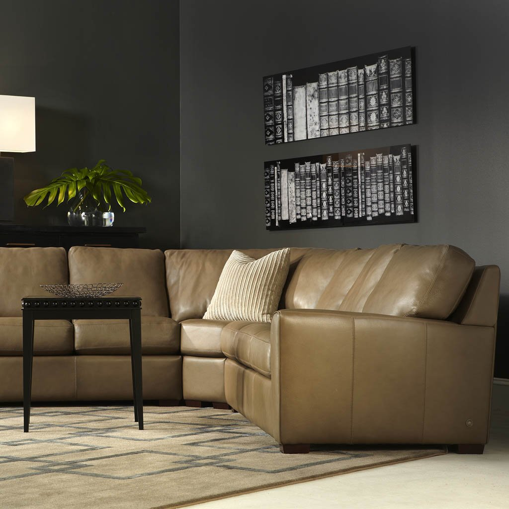 Kaden Leather Three Seat Sofa by American Leather