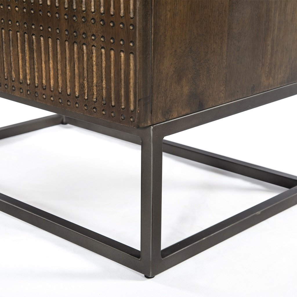 Kelby Cabinet Nightstand Four Hands Base Detail