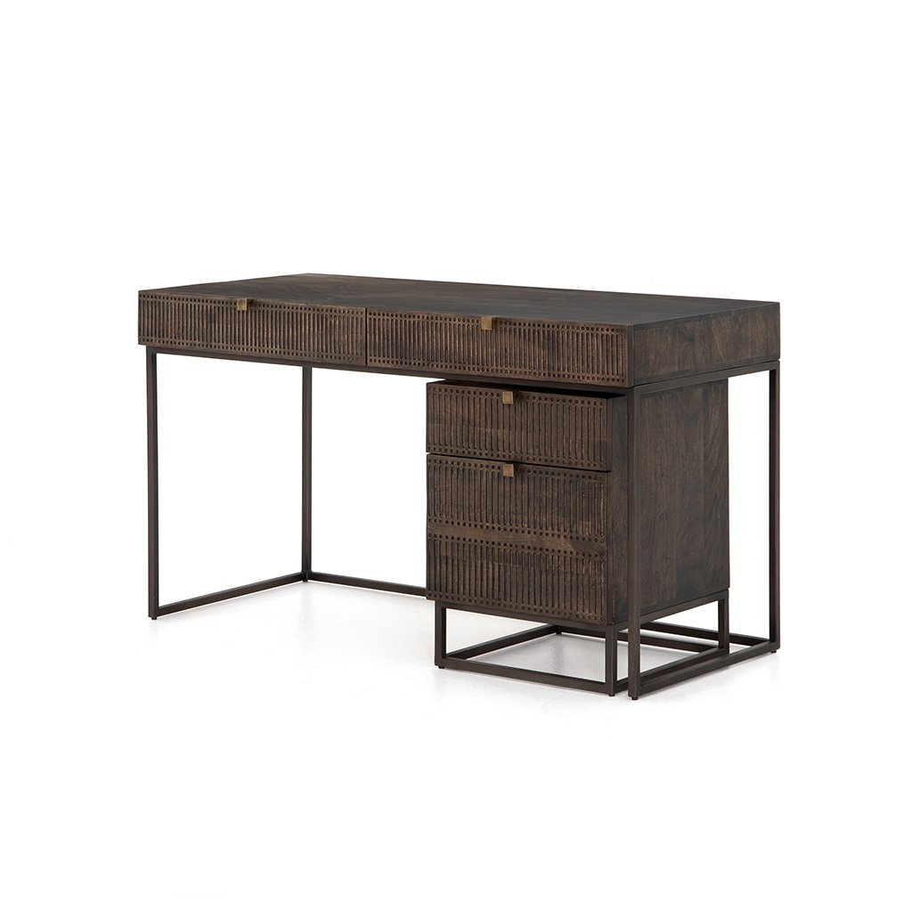 Kelby Writing Desk with Filing Cabinet