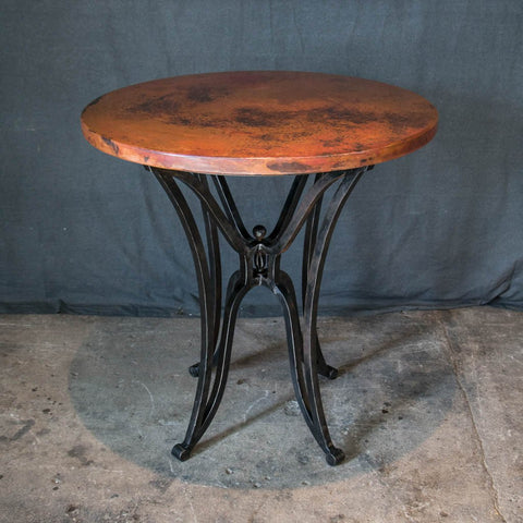 Canyon bar table handcrafted and hand hammered copper and solid canyon copper top bar table watchthetrailerfo