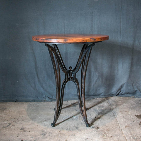 Canyon bar table handcrafted and hand hammered copper and solid iron canyon kenay copper top bar table watchthetrailerfo