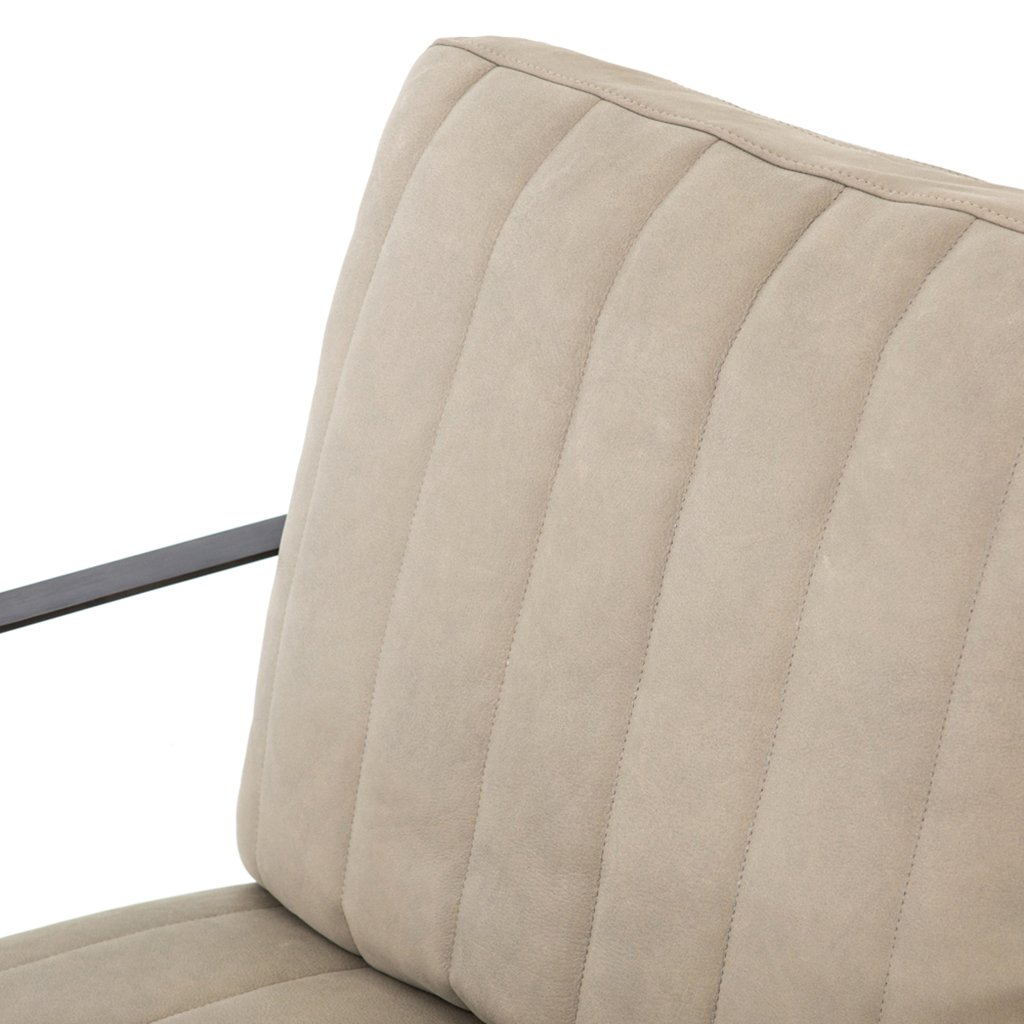 leather accent chair grey