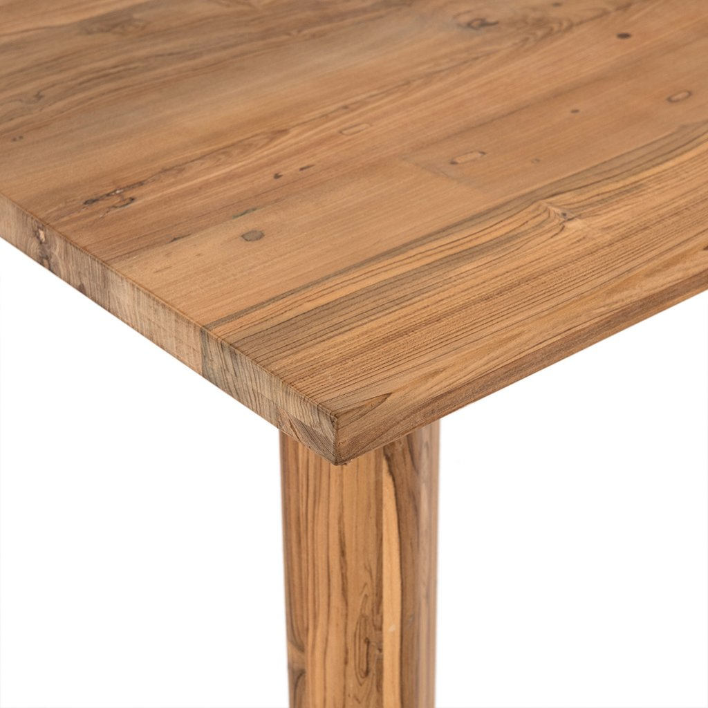 Kimball Reclaimed Teak Square Dining Table Four Hands IMER-035 Top Detail