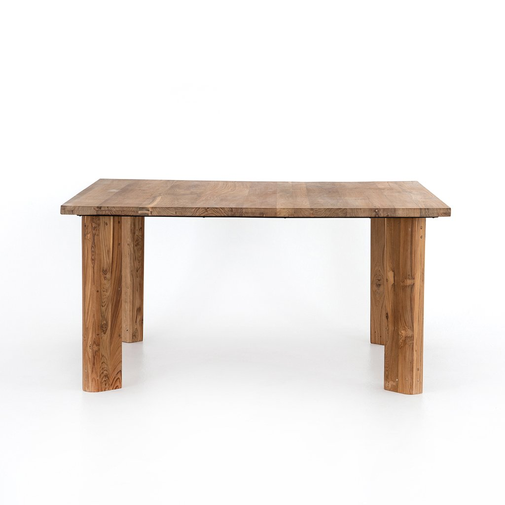Kimball Reclaimed Teak Square Dining Table Four Hands IMER-035 Front View