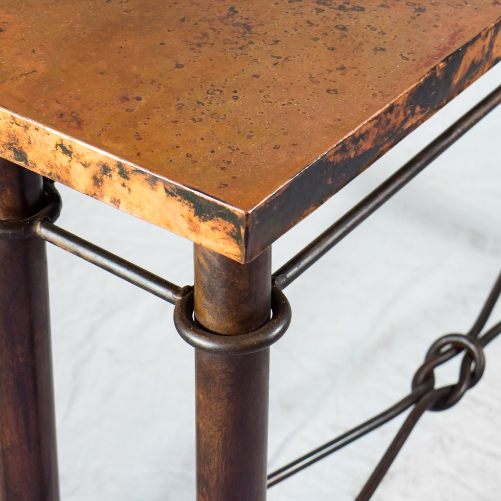 Artesanos Copper Knots Console Table