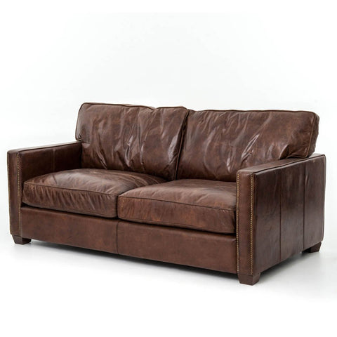 Rayna Sofa by American Leather - Satori Midnight Blue Leather