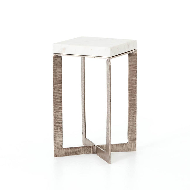 Lennie End Table - Brushed Nickel IMAR-157