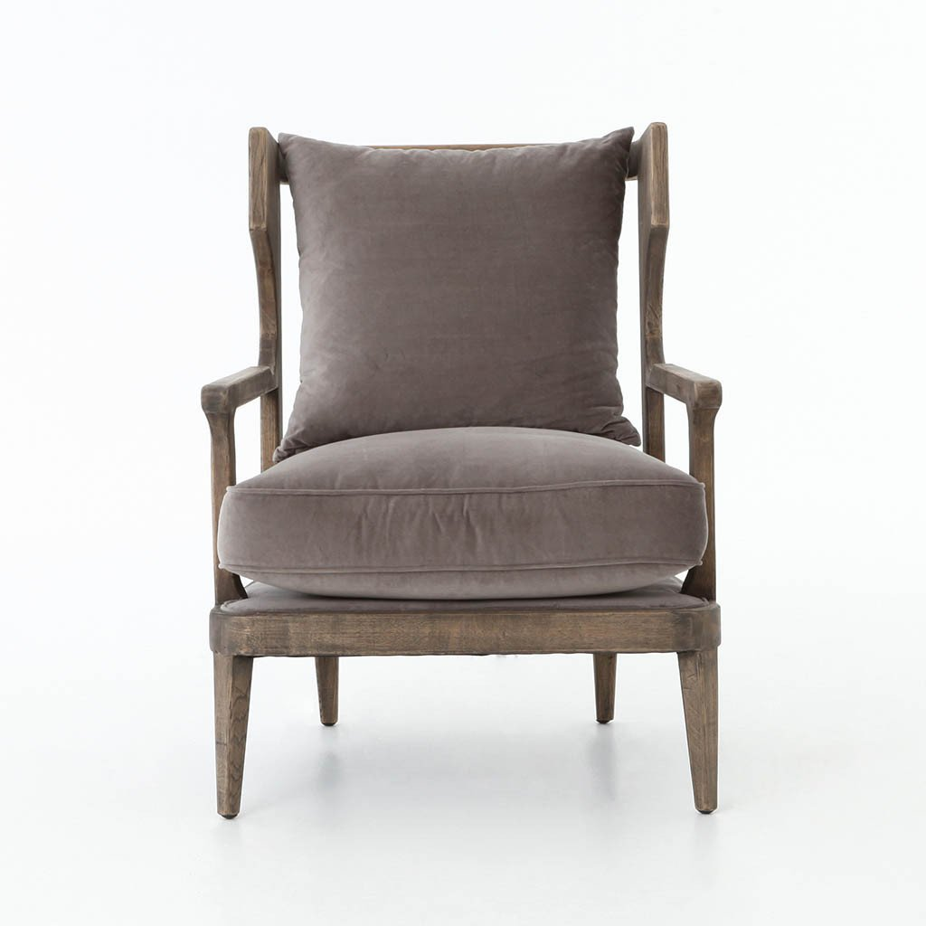 Lennon Oak Frame Accent Chair