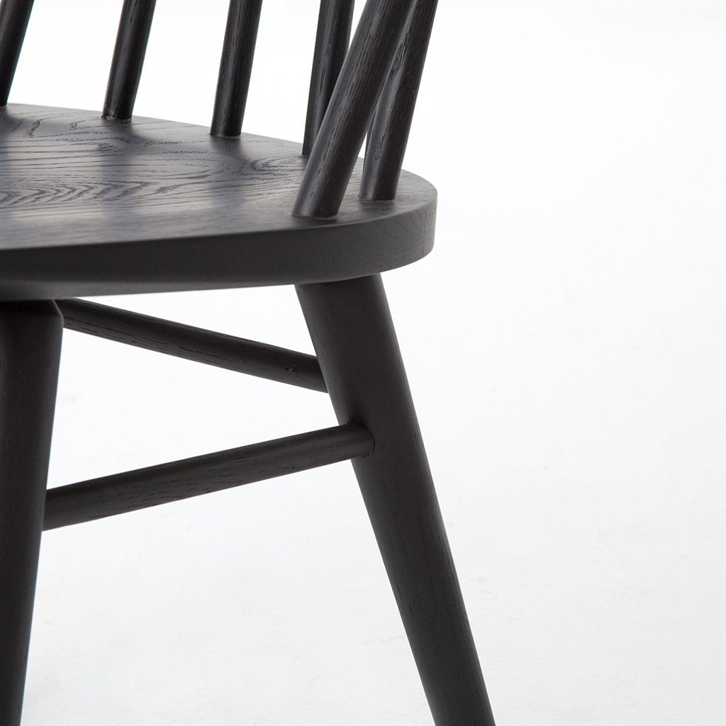 Seat Detail Lewis Black Windsor Style Chair