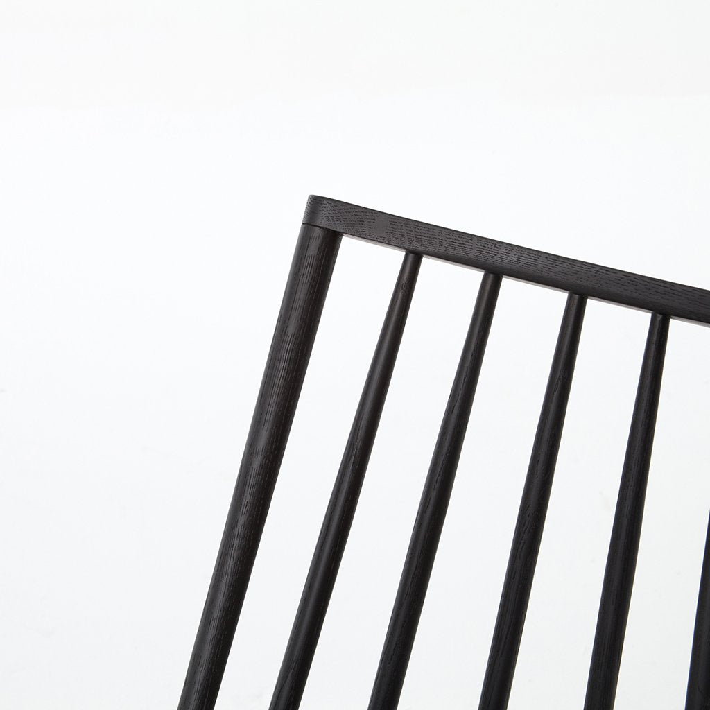 Backrest Detail Lewis Black Windsor Style Chair