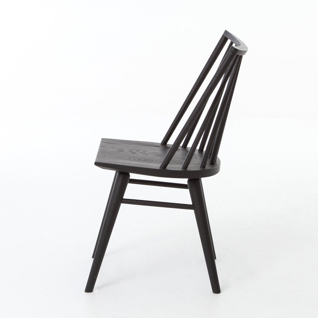 Side View Lewis Black Windsor Style Chair