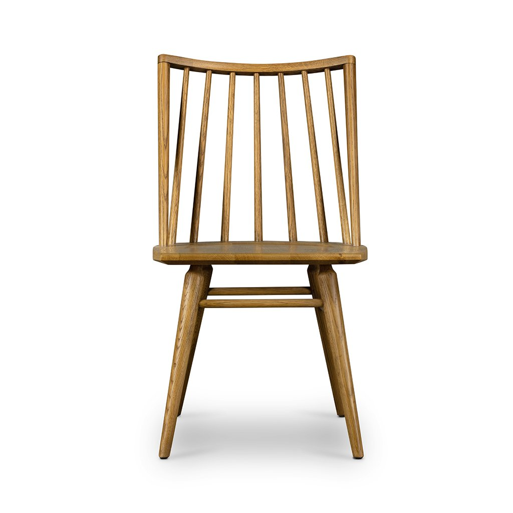 Front View Lewis Windsor Chair - Sandy Oak