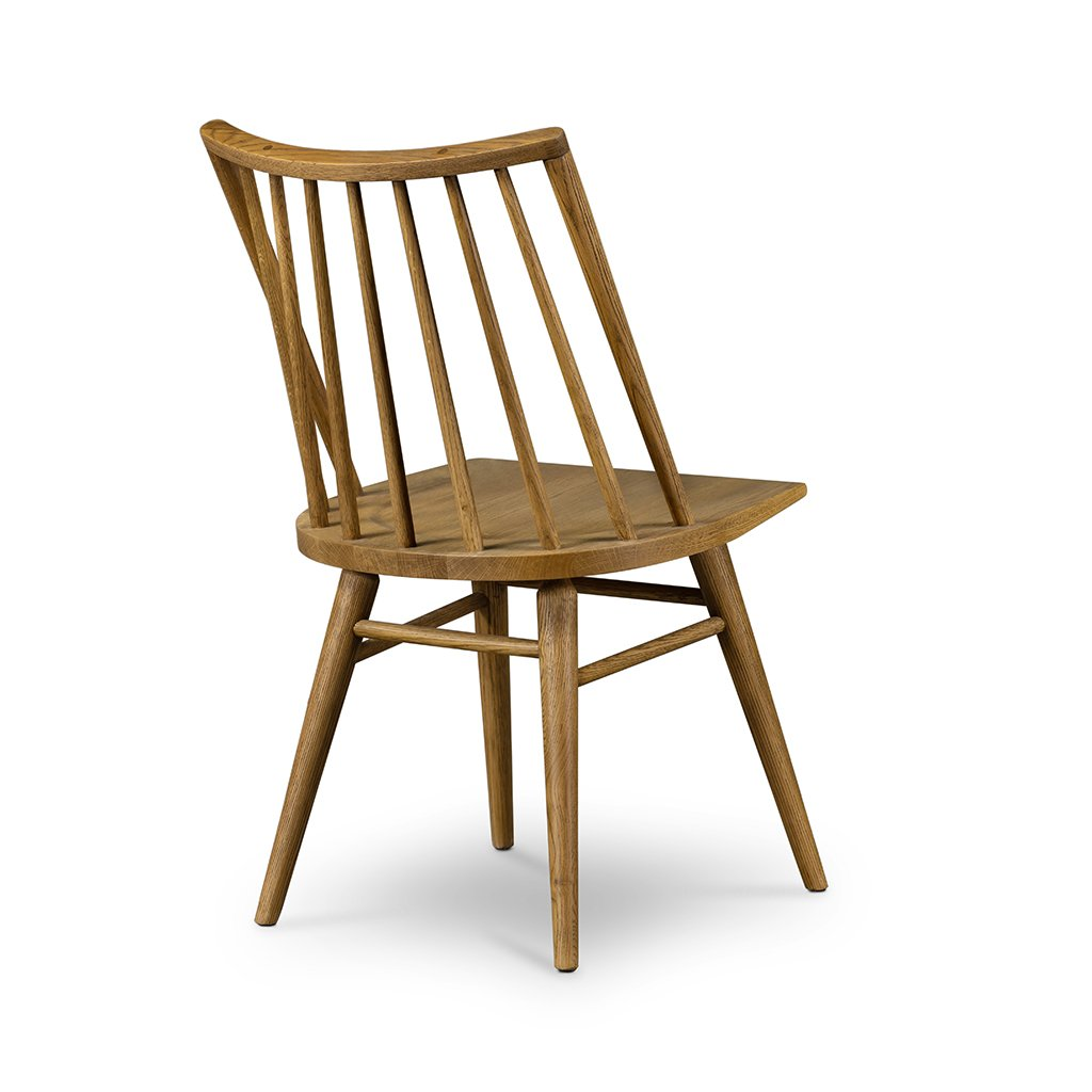 Back View Lewis Windsor Chair - Sandy Oak