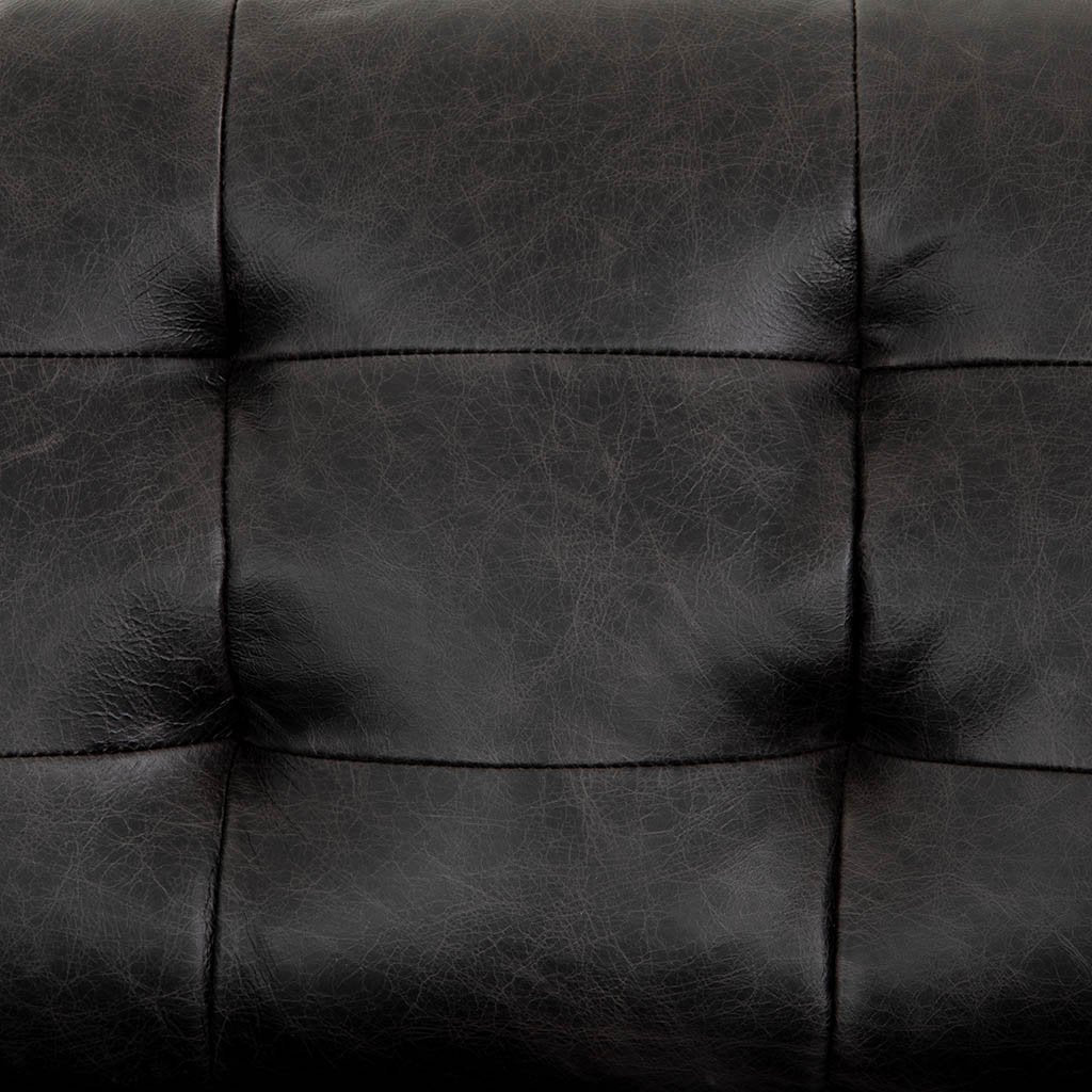 Four Hands Lexi Black Leather Sofa CDAW-009Y06-679