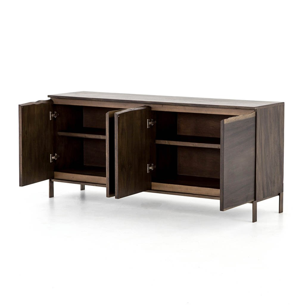 live edge modern sideboard four hands