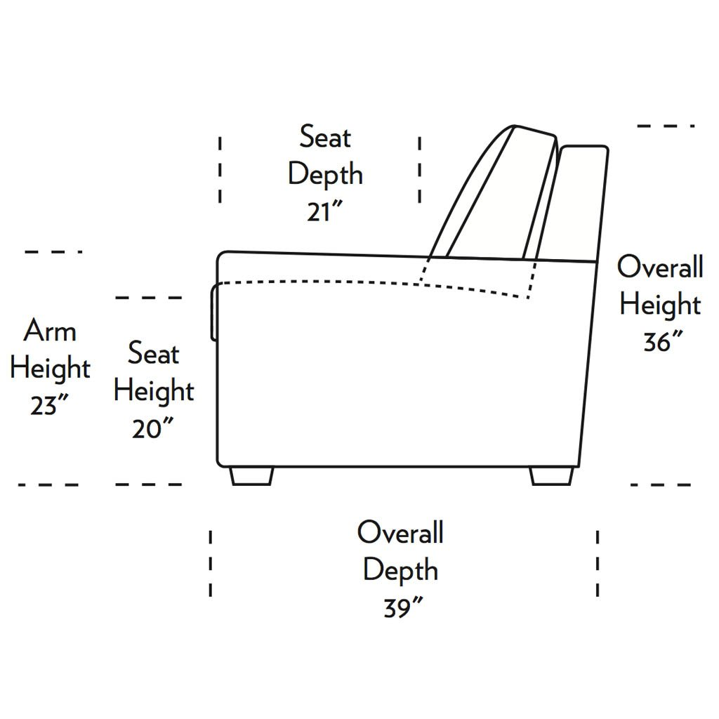 Lyons Comfort Sleeper Sofa Side Dimensions